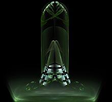 green glass sculpture by vivien styles