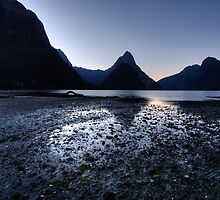 Mitre Peak at Twilight by Wendy  Meder