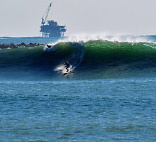 The 20 foot Waves! Seal Beach, Ca. by Stephen Burke
