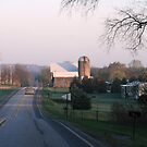 the Cool Country Roadway by Geno Rugh
