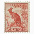 Kangaroo stamp by Lee Lee