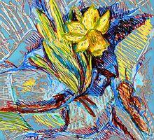 Daffodil in my rock garden I by Linandara