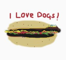 I LOVE DOGS    T SHIRT by Shoshonan