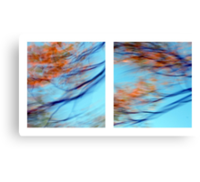 Autumn Impressions - Diptych #2 Canvas Print