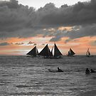 Black sails in the sunset by Jim  Paredes