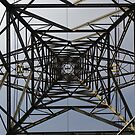 Under/Inside A Pylon by rhian mountjoy