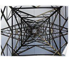 Under/Inside A Pylon Poster