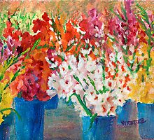 A Gladiola Party by jimmie