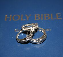 Wedding  Rings on Holy Bible by DebbieCHayes