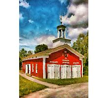 Fireman - The Fire house Photographic Print