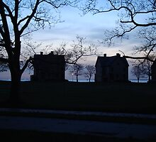 Silhouettes at Twilight on Sandy Hook, New Jersey USA by Michele Ford