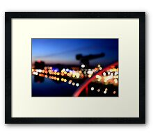 Glasgow Blur Framed Print