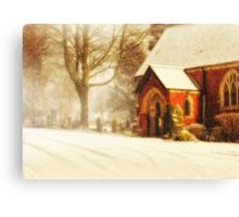 Winter's wreath Canvas Print