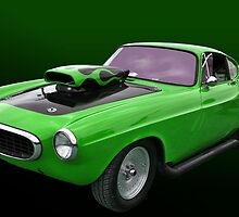 """Green 1966 Volvo Dragster """"Volvoid"""" by TeeMack"""