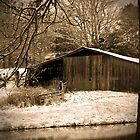 Old Barn in the Snow by Susan Blevins