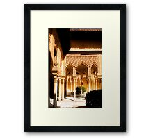 The Nasrid Palaces at the Alhambra Spain Framed Print