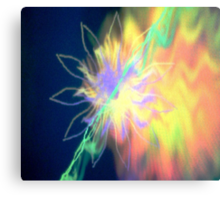 Space Flower Canvas Print