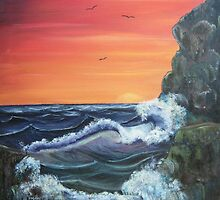 'Raging Sea - Sunrise after the storm' by Susie Hawkins