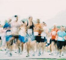 Covered Bridges Marathon Runners by Jesse Wheadon