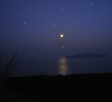 Blasket Islands by Night by amuigh-anseo