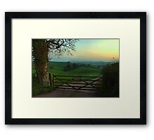 Southcoombe at sunset Framed Print