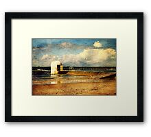 Pumphouse By The Sea Framed Print