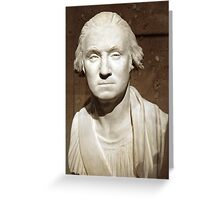 A George Washington Bust Greeting Card