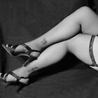 Fishnet Legs Artistic Pin Up by Sunshinesmile83