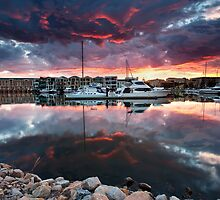 Patawalonga Marina Sunset by Bill  Robinson