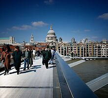 London - St Paul's & Millennium Bridge by Nick Bland