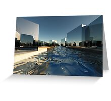 Q-City-Two Greeting Card