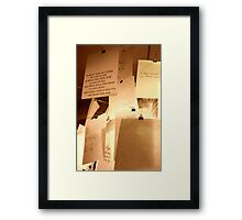 letters and thoughts - shop window in Venice Framed Print