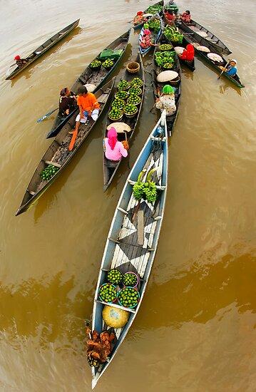 Fruits and Vegetables seller - Lokbaintan, Indonesia by Aulia  Rahman