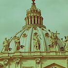 St Peters Basilica Dome  by Cathy  Walker