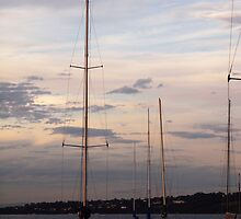 Yachts at Dusk by Karen Coulter