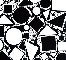 Crator Shapes (Right) © (Abstract) by DwPaintings