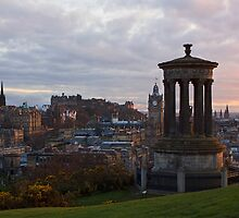 Sunset Over Edinburgh by Lynne Morris