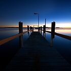 Round Hill Creek Jetty, Town of 1770 by Ian Beattie