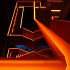 Orange stairs by Lindie