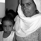 Indian girl with grand mother in Amritsar by jihyelee