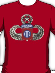 82nd Airborne Division Patch with Jumpwings. T-Shirt