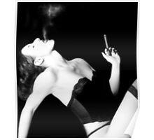 Smoke & Seduction - Self Portrait Poster