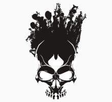 Art On The Skull - Black on White by SEspider
