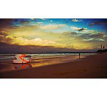 Kite Surfer at sunset Photographic Print