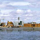 Liverpool City Skyline. (Home of LFC & EFC) Merseyside, UK by Sue Smith