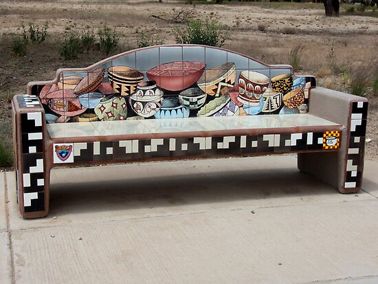The Hohokam Pottery Bench by Lucinda Walter