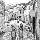 sardinian village scene 1 by sirbonessa