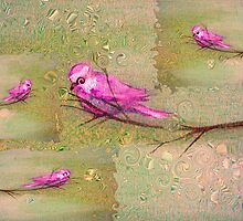 pink birds by tulay cakir