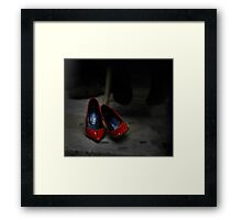 Red Shoes Framed Print
