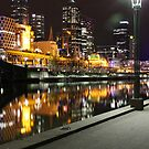 night on the yarra by Steve Scully